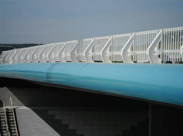 glissière de sécurité avec barreaudage H2 + / barrière ovalie H2 +